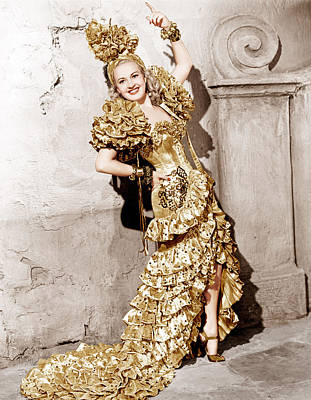 Gold Lame Photograph - Down Argentine Way, Betty Grable, 1940 by Everett