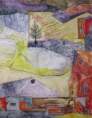 Pasture Scenes Mixed Media - Down On The Farm by David Raderstorf