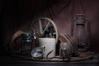 Mason Jars Photograph - Down On The Farm Still Life by Tom Mc Nemar