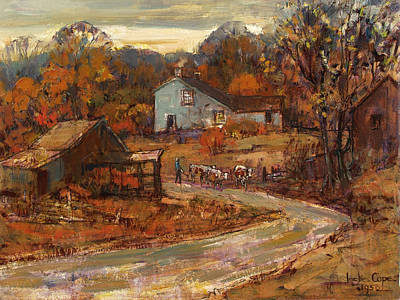 Leslie Cope Painting - Down The Lane by Leslie Cope
