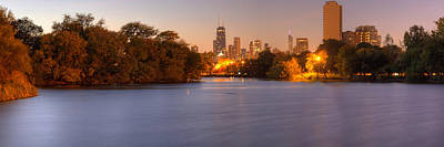 Downtown Chicago From Lincoln Park Print by Twenty Two North Photography