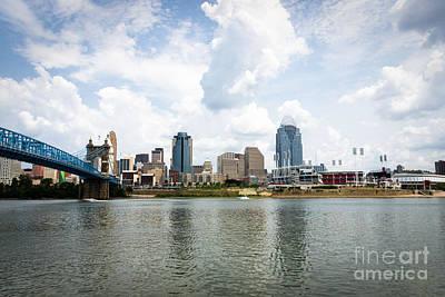 Ohio River Landscapes Photograph - Downtown Cincinnati Skyline Buildings by Paul Velgos