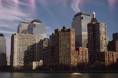 Downtown Financial District Print by Justin Guariglia