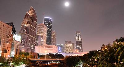 Downtown Houston Print by David Morefield