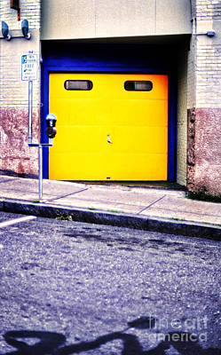 Downtown Northampton - Garage Print by HD Connelly