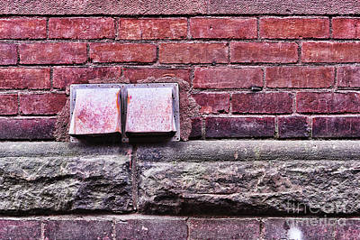 Brick Buildings Photograph - Downtown Northampton - Vents by HD Connelly