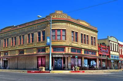 Shiner Photograph - Downtown Shiner Texas by David Morefield