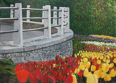 Tulip Festival Painting - Dow's Lake Tulips by Betty-Anne McDonald