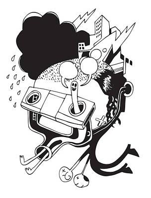 Building Exterior Digital Art - Dowsing Man by Steven Silverwood