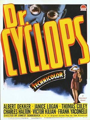 Cyclops Photograph - Dr. Cyclops, Albert Dekker, Janice by Everett