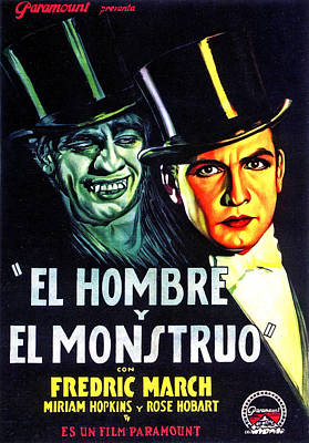 Dr. Jekyll And Mr. Hyde, Aka El Hombre Print by Everett