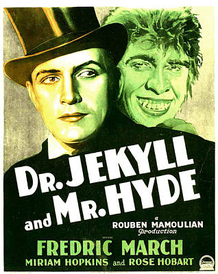 1931 Movies Photograph - Dr. Jekyll And Mr. Hyde, Poster Art by Everett