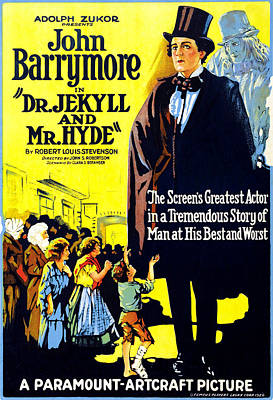 Dr. Jekyll And Mr. Hyde, Right John Print by Everett