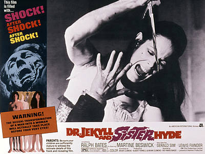 Dr. Jekyll And Sister Hyde, Martine Print by Everett
