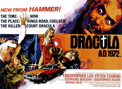 Horror Cars Photograph - Dracula A.d. 1972, Stephanie Beacham by Everett