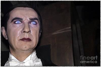 Statue Portrait Photograph - Dracula Cartoon by Sophie Vigneault