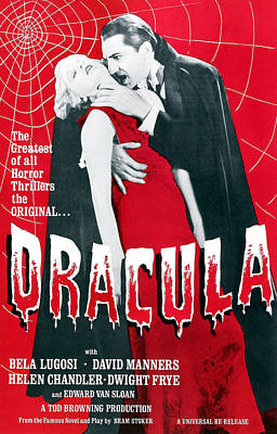 Dracula, From Left Frances Dade, Bela Print by Everett