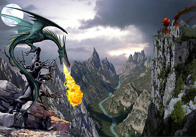 Fantasy Photograph - Dragon Valley by The Dragon Chronicles - Garry Wa
