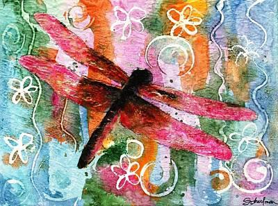 Dragonfly Fairy I Print by Miriam Schulman
