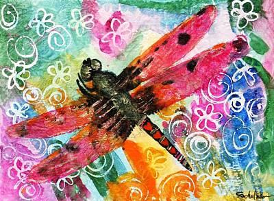 Dragonfly Fairy II Original by Miriam  Schulman