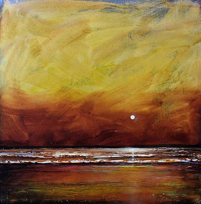 Abstract Beach Landscape Painting - Drama Ocean by Toni Grote