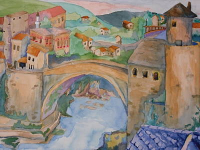 Eastern Europe Painting - Dream From Bosnia Hertzigovinia by Donna Reaves