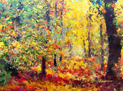 Impressionistic Landscape. Fall Painting - Dreaming In Color by Georgiana Romanovna