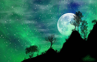 Dreamy Night Print by Anthony Citro