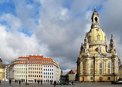 Dresden Church Of Our Lady And New Market Print by Christine Till