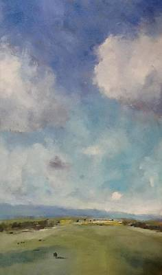 Drifting Clouds Over Arreton Valley Print by Alan Daysh