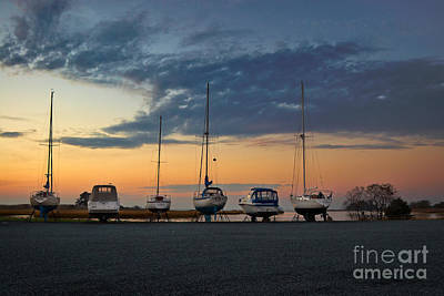 Dry Dock Lineup Print by Susan Isakson