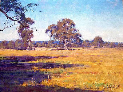 Victoria Painting - Dry Summer Whittlesea Australia by Graham Gercken