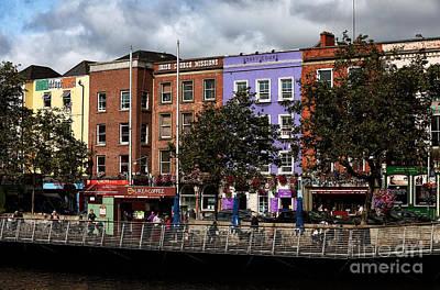 Dublin Building Colors Print by John Rizzuto
