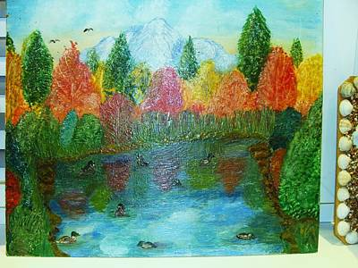 Painting - Duck Lake by Jeanne Mytareva