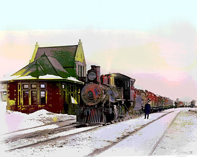 St. Louis Art Mixed Media - Duluth And Iron Range Railroad by Charles Shoup
