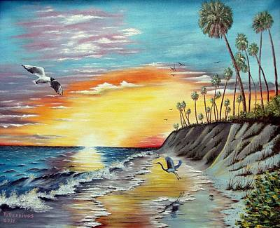 Painting - Dune Sunset Reflections by Riley Geddings