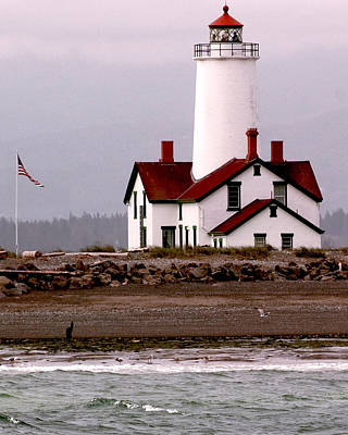 Juan De Fuca Photograph - Dungeness Lighthouse by Alvin Kroon