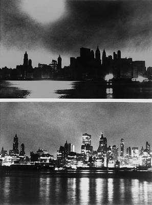 During And After Photos Of New York Print by Everett