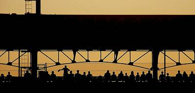 Dusk At The Ball Game Original by Joshua Alley