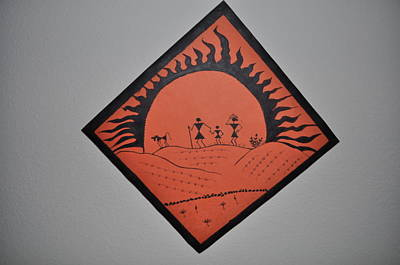 Warli Painting - Dusk by Reshma Rout
