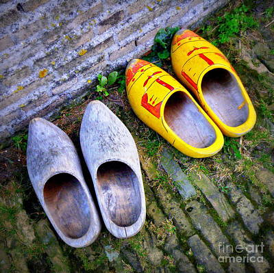 Dutch Wooden Shoes Print by Lainie Wrightson