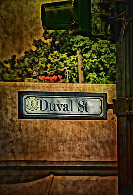 Flypaper Textures Photograph - Duval Street by Anne Rodkin