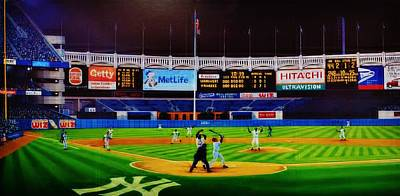 Yankee Stadium Painting - Dwight Gooden's No No by T Kolendera