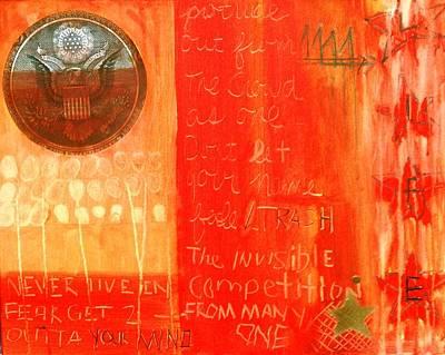 Adjectives Painting - E Pluribus Unum by Nik Olajuwon Shumway