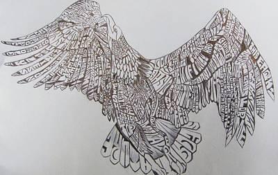 Eagle Print by Lourents Oybur