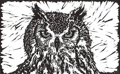 Eagle Owl Print by Julia Forsyth