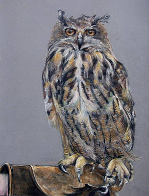 Eagle Owl Print by Tanya Patey