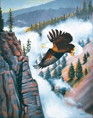 Phil Hopkins Painting - Eagle's Flight by Phil Hopkins