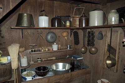 Old Crocks Photograph - Early American Utensils by Michael Peychich