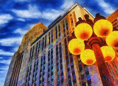 Early Evening Lights Print by Jeff Kolker